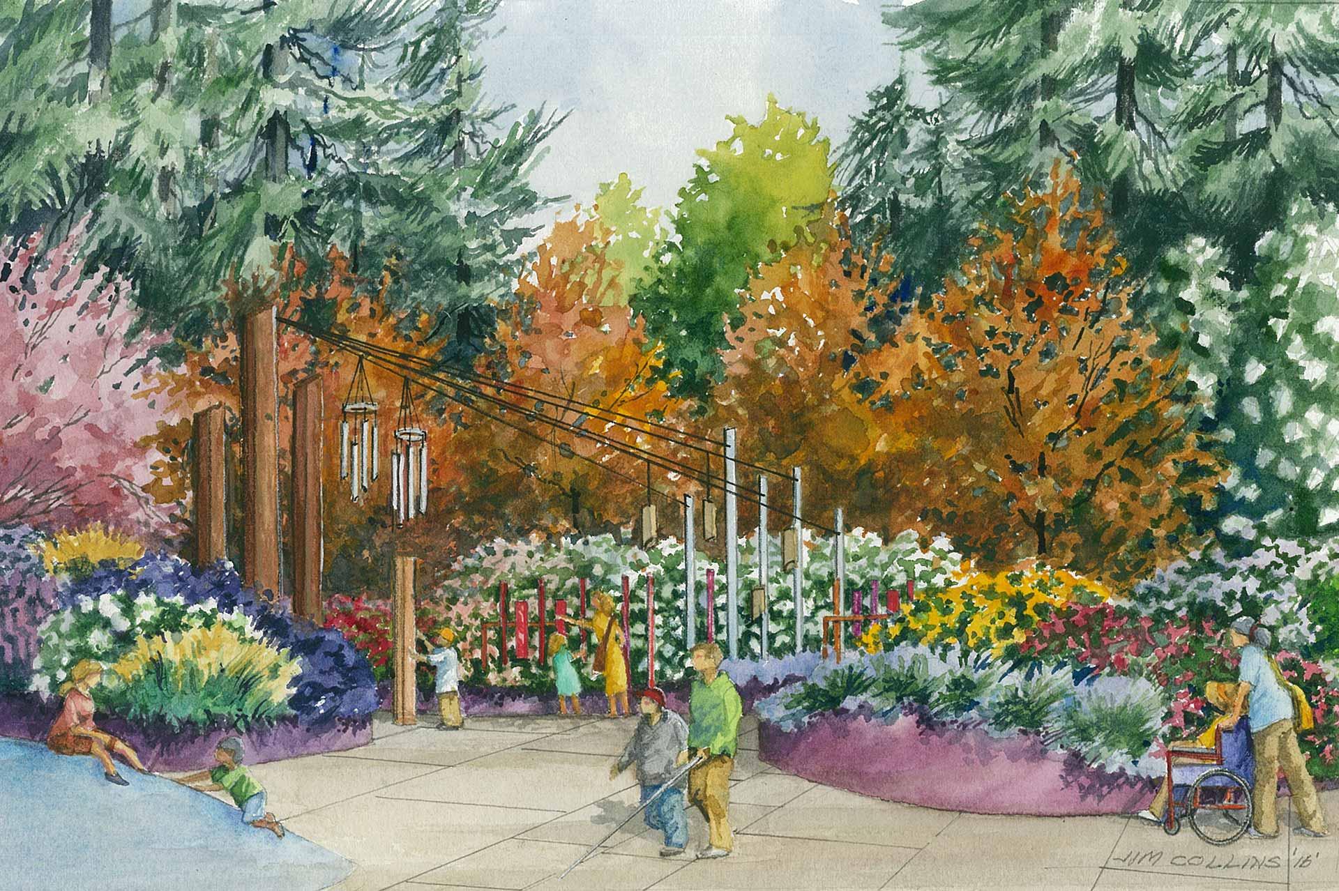 Woodland Park Zoo Sensory Garden on King 5 News | Fischer Bouma ...